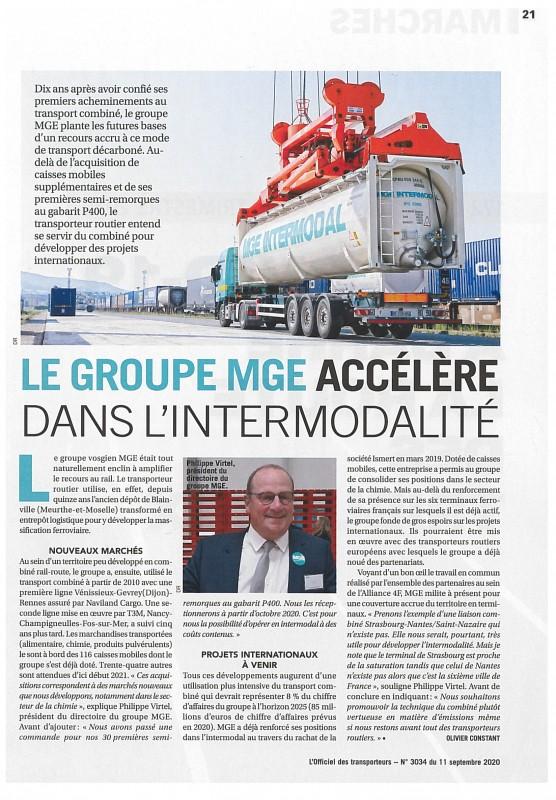 Article sur l'intermodal Officiel des transporteurs