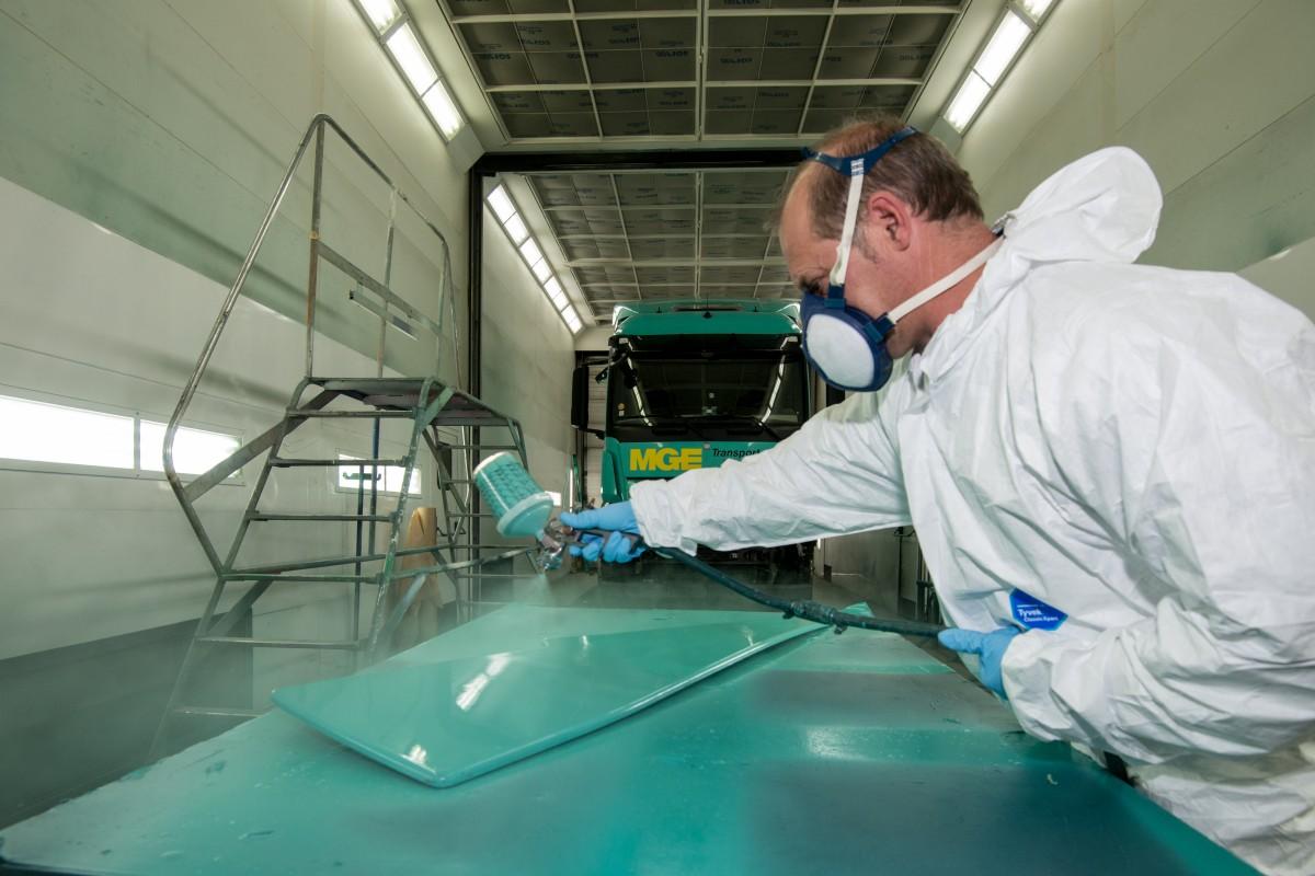 Cabine de peinture services techniques MGE