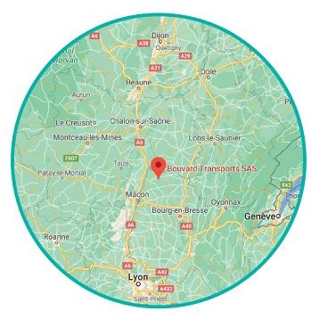 Carte de localisation de Bouvard