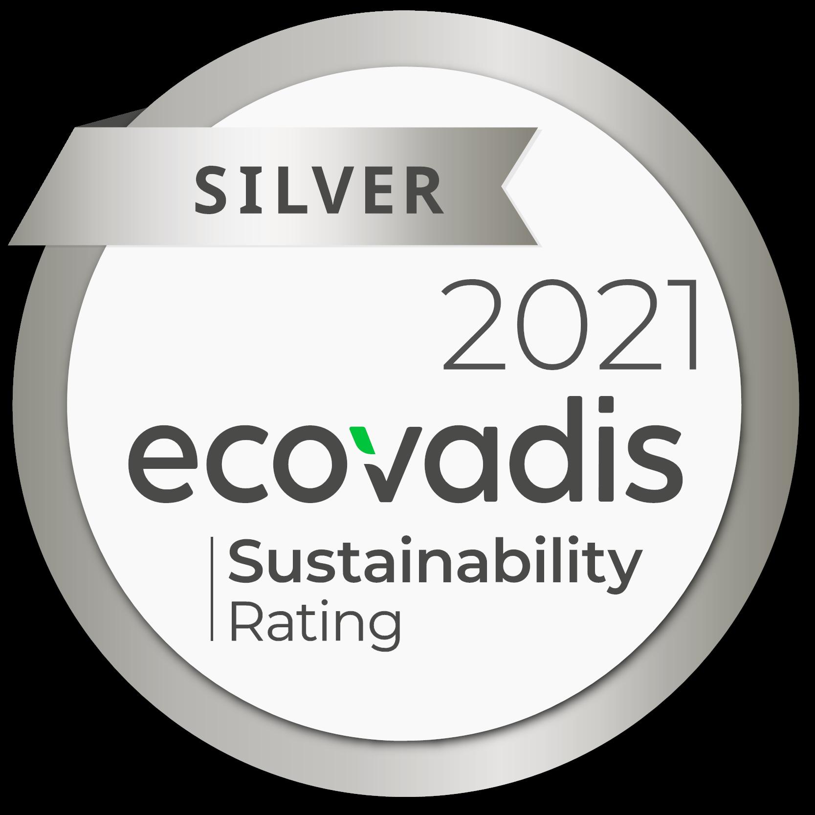 Médaille silver Ecovadis 2021
