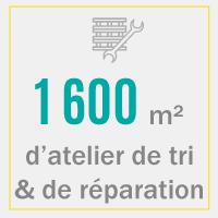 infographie : chiffre-clé tri et réparation de palettes
